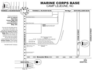 Camp Lejeune Campus Map