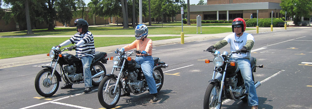 Motorcycle Training class on Coastal campus