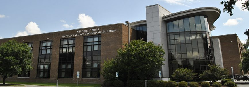 a photo of the Math and Science building