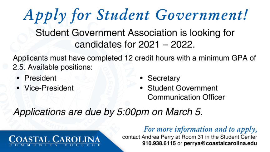 An -Eflyer for Student Government Elections, Text to follow.